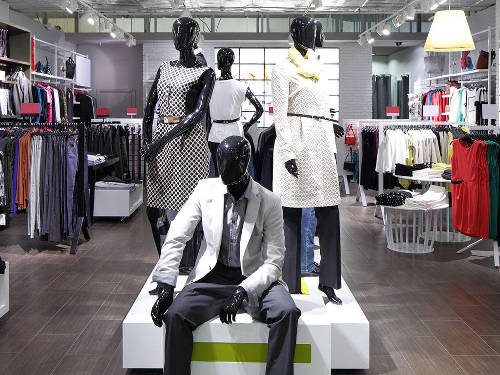 Interior of a fashion retail store